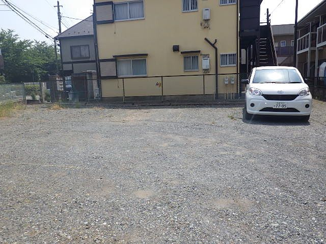 アパート専用の駐車場で安心