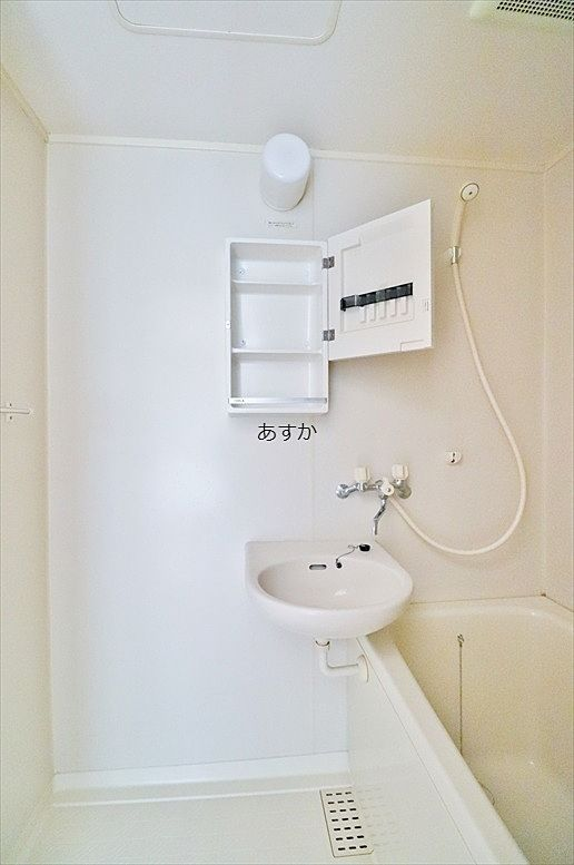 収納のあるバスルーム