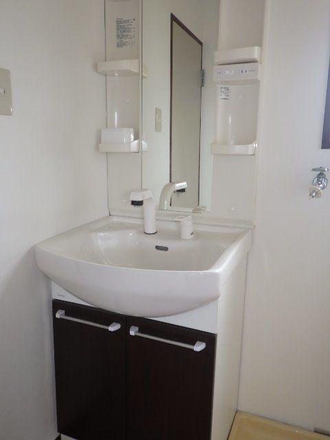 水周りは新しいシャワー付の洗面台