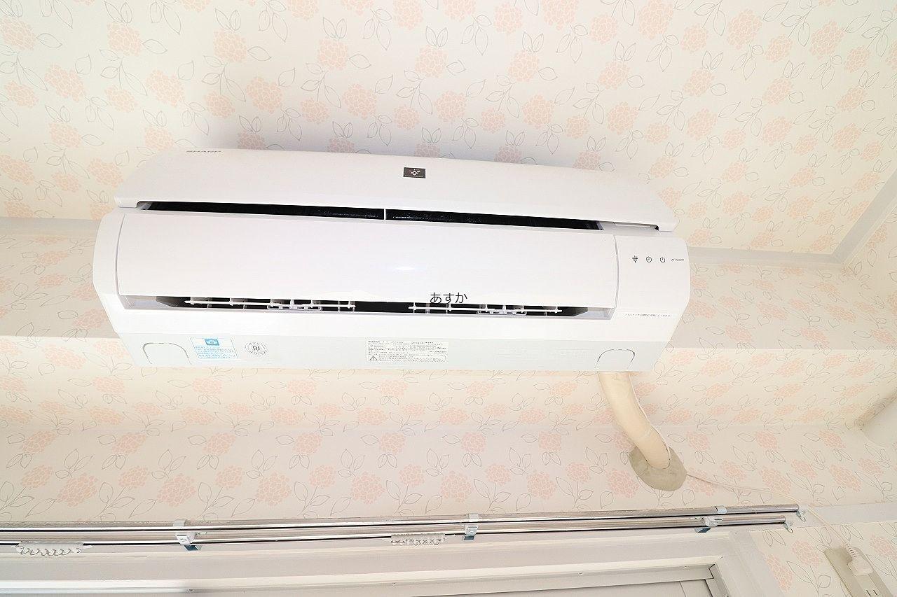 全室に設置された新しいエアコン