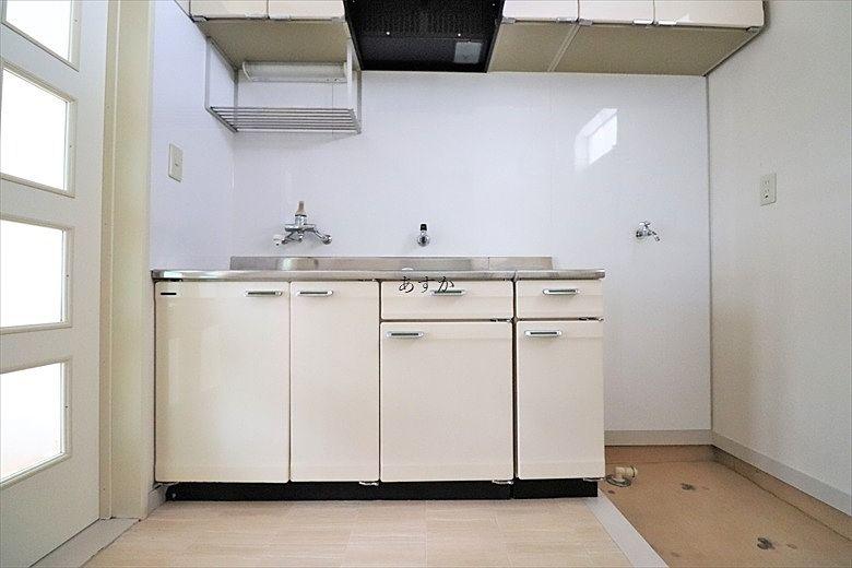 大きなキッチンで使いやすい