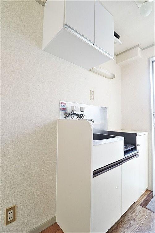 居室から見えない位置にあるキッチン