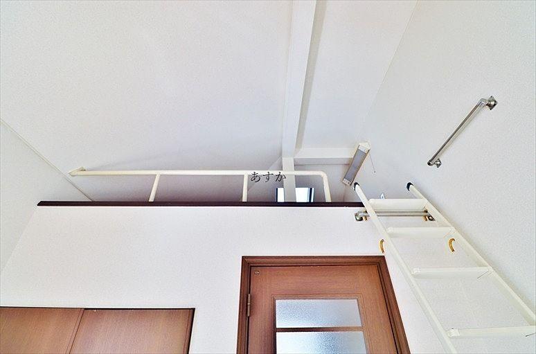 天井の高いロフト