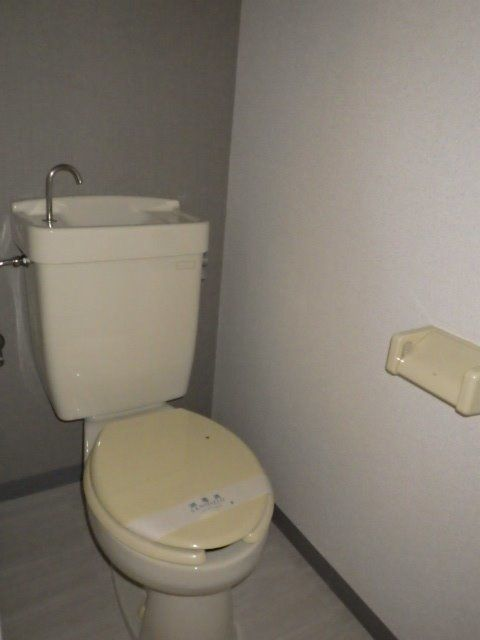 トイレのクロスもアクセントクロス使用