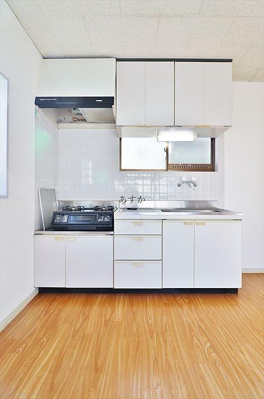 LDK奥のキッチン