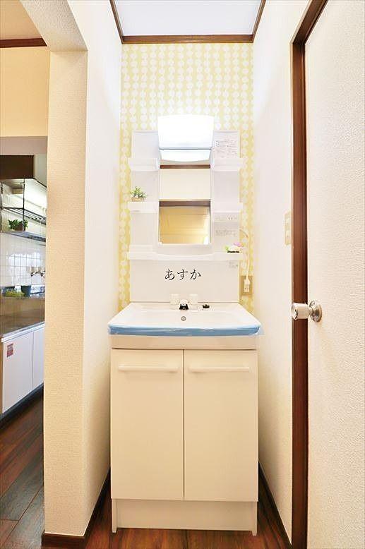 新規交換済み洗面台