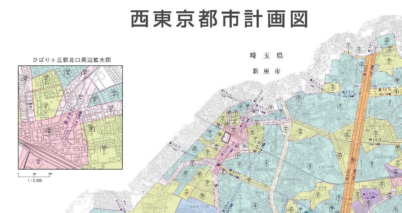 西東京市ひばりが丘近辺計画図