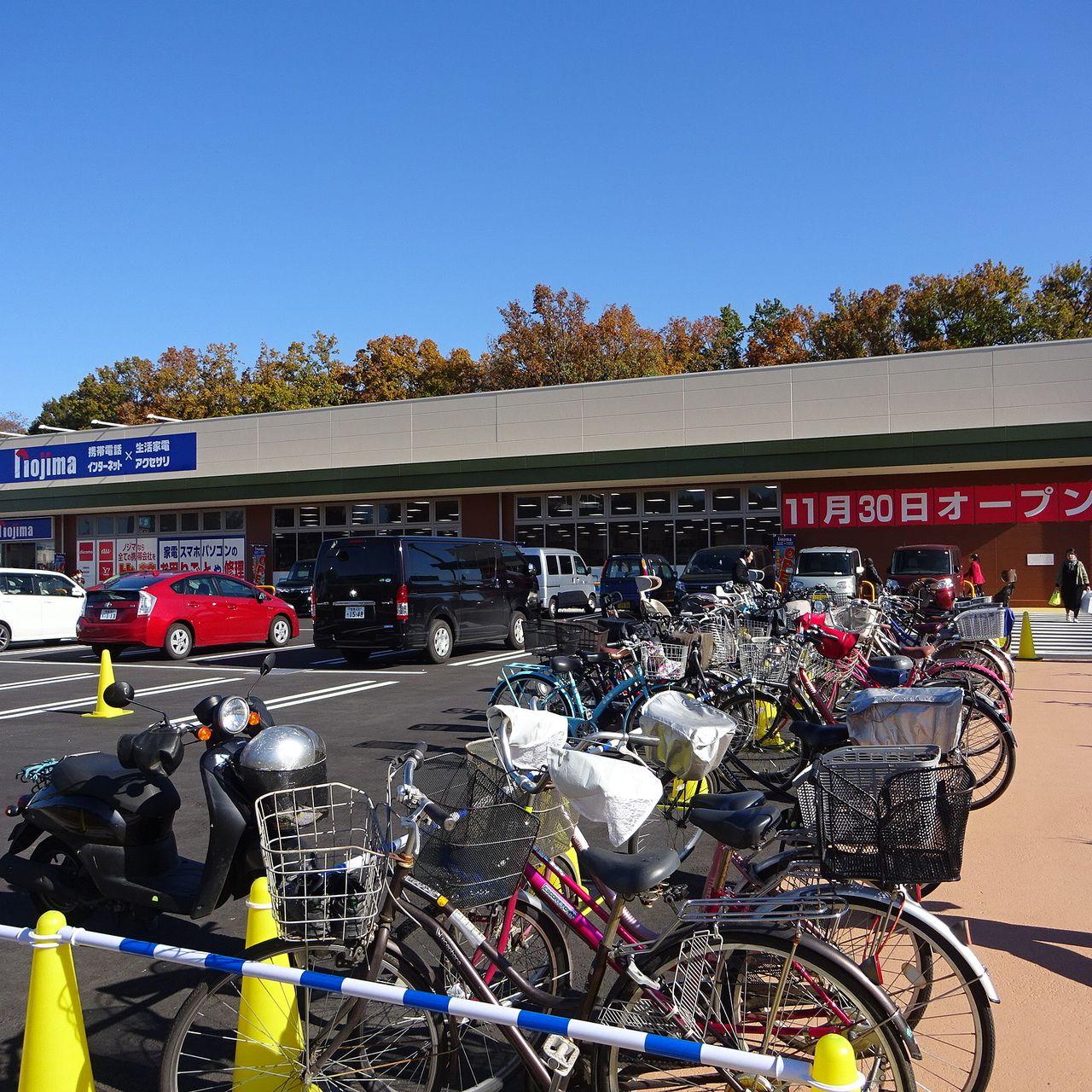 臨時の駐輪場もあります