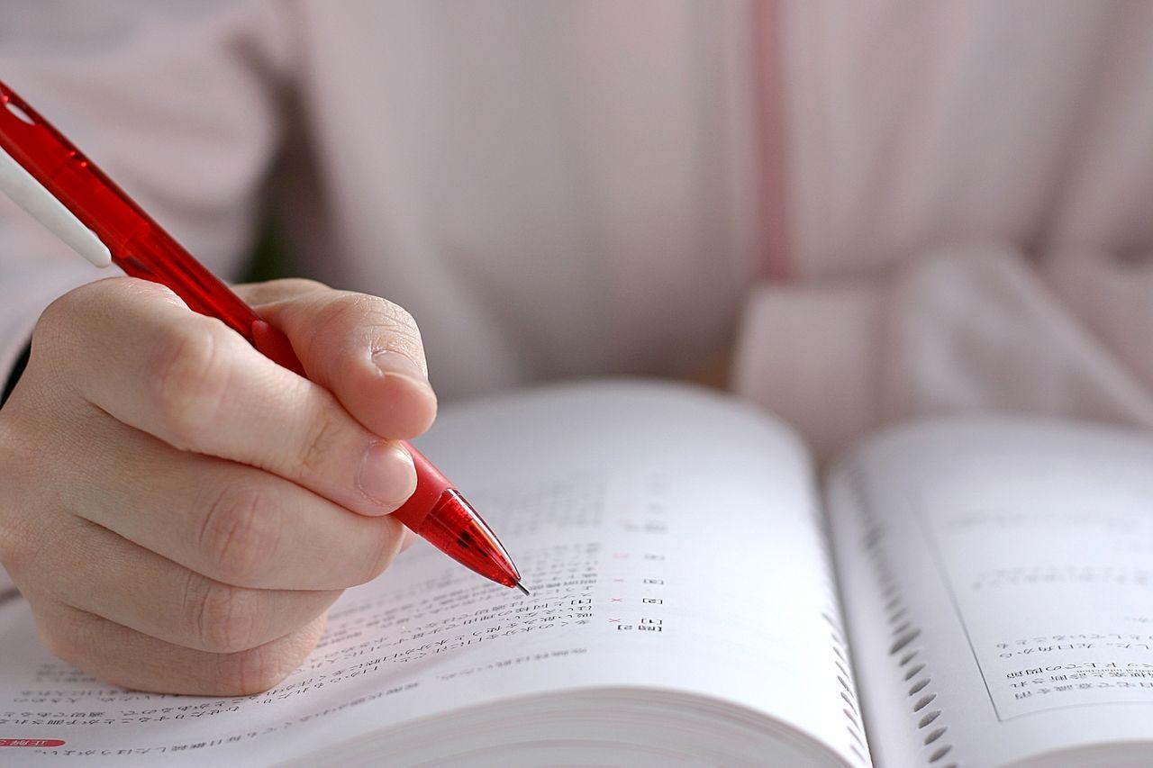 未来に向けて受験勉強をする