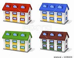 様々なタイプのあるアパート