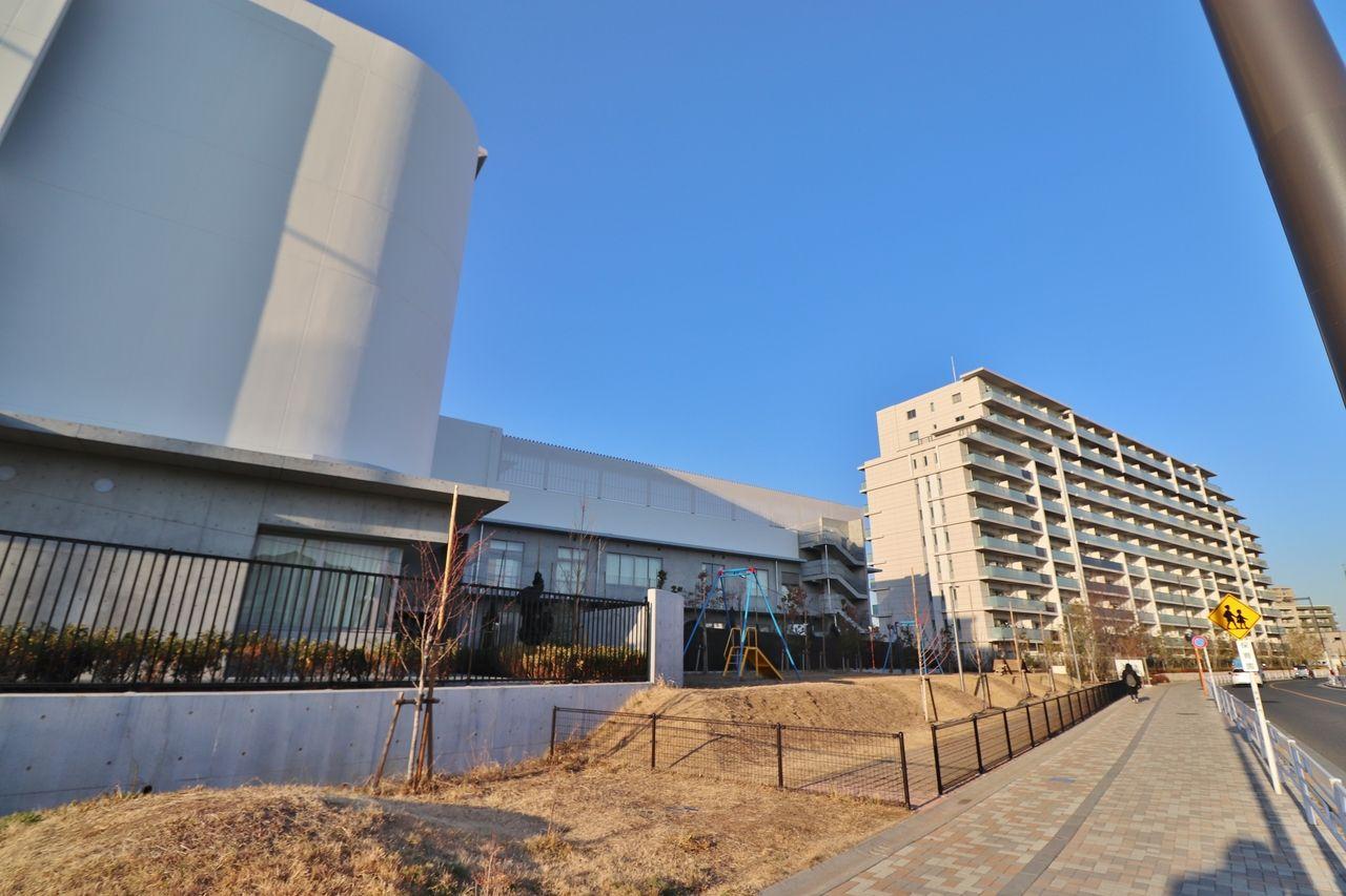 中原小学校、新しい仮校舎へ移転!