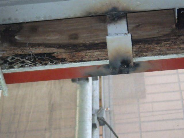 木部が腐食していた天井部