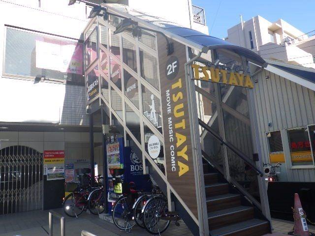 駅前ロータリーに面する予定のツタヤ入口