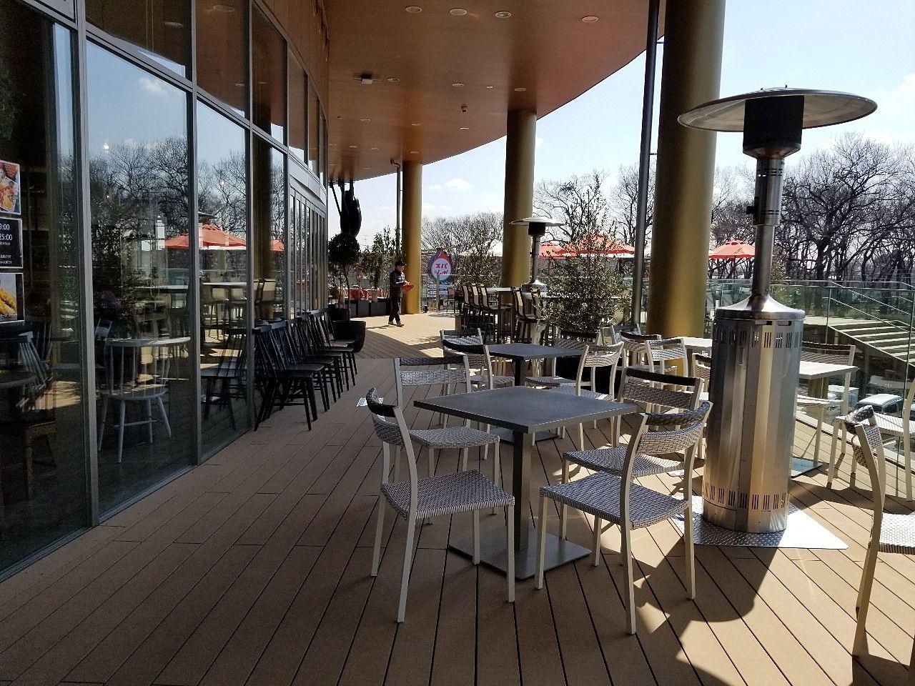 これからの季節に良いカフェのテラス席