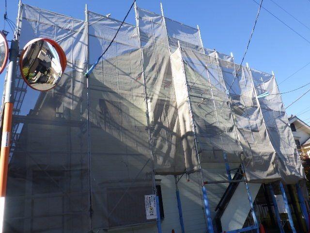 2017年11月末足場組み立て開始