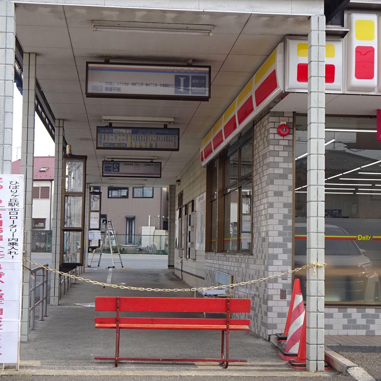 一日前まで使用されていたバス乗場