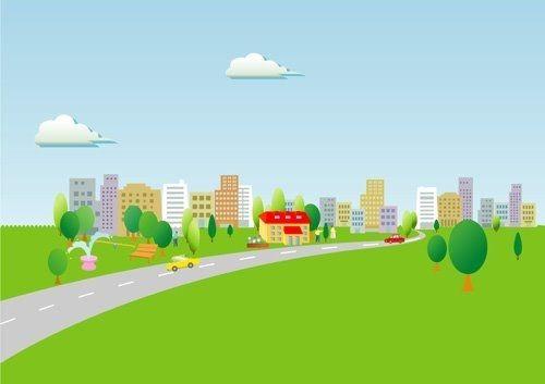 緑の広がる住宅地