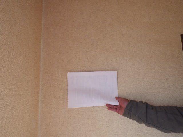 元は白い壁。白い紙との対比