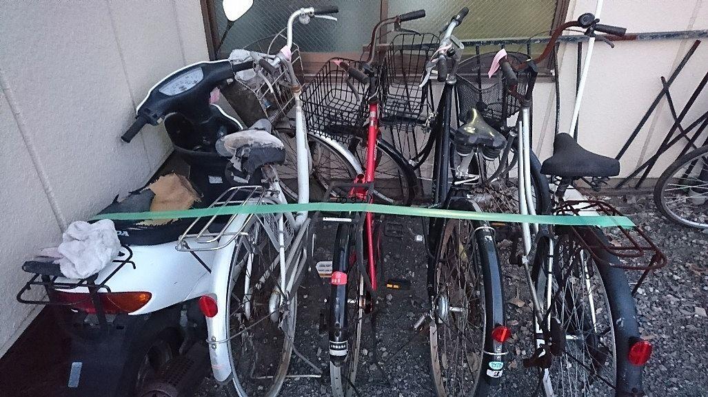 何年も放置されていた自転車や原付