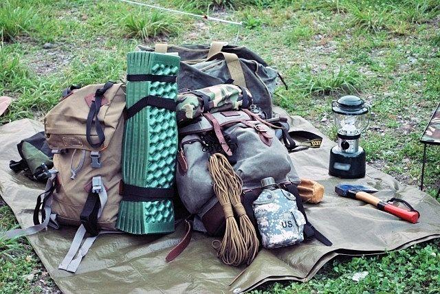 キャンプでサバイバル