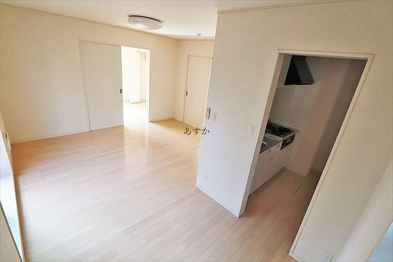 キッチンは丸見えになりません