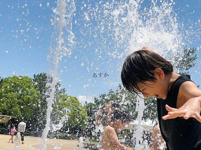 夏はうれしい水遊び