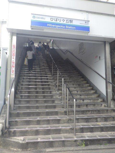 まっすぐ急な階段でのぼるのも大変