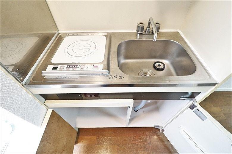 IHコンロ設置のキッチン