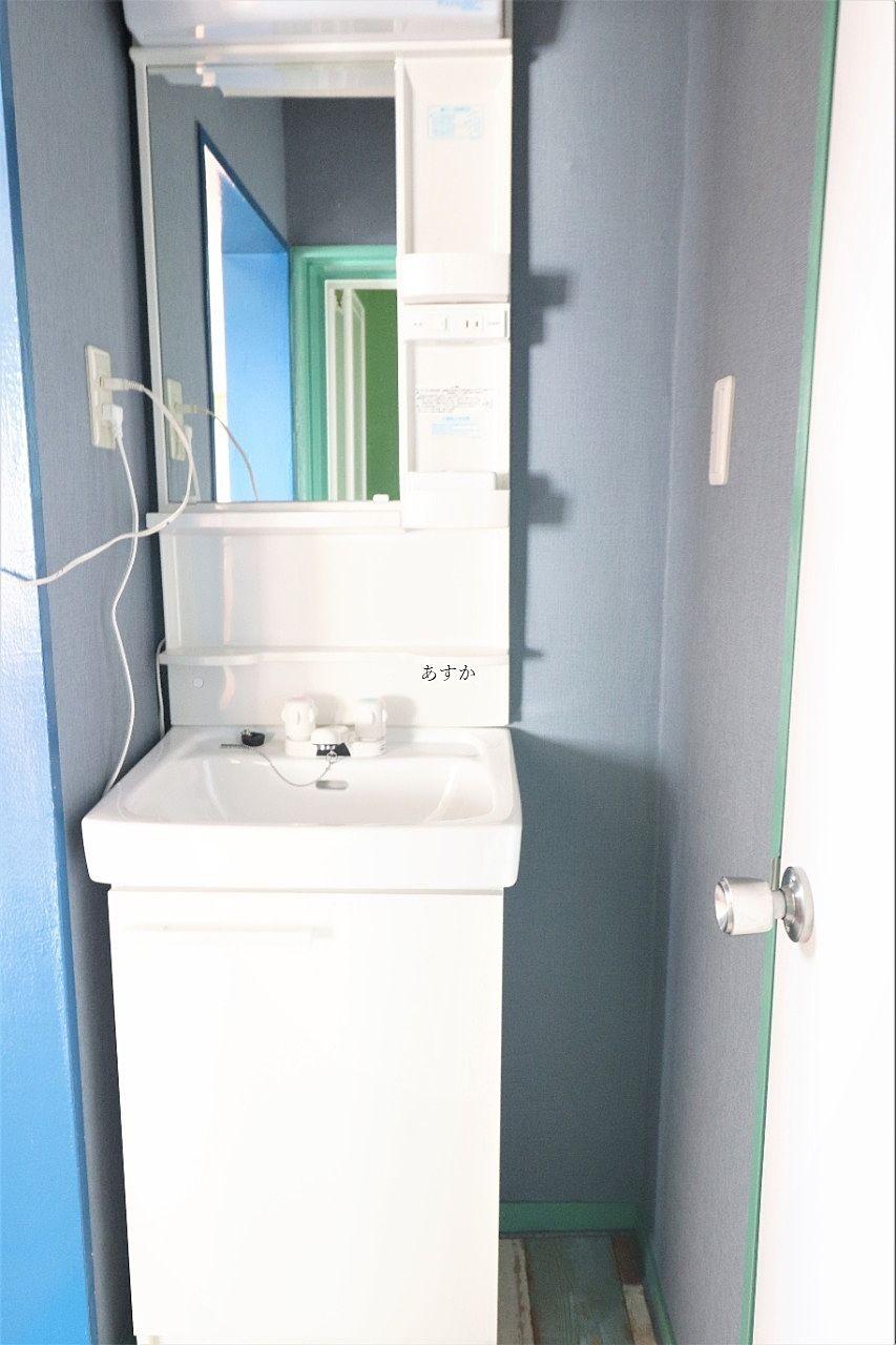 小さいけれど使いやすい洗面台