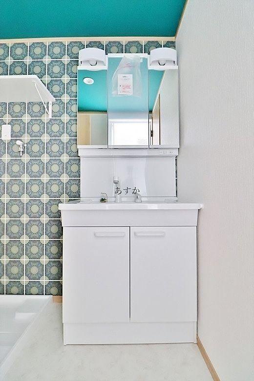 ゆったりとした洗面化粧台
