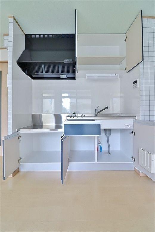 たっぷりと収納できるキッチン