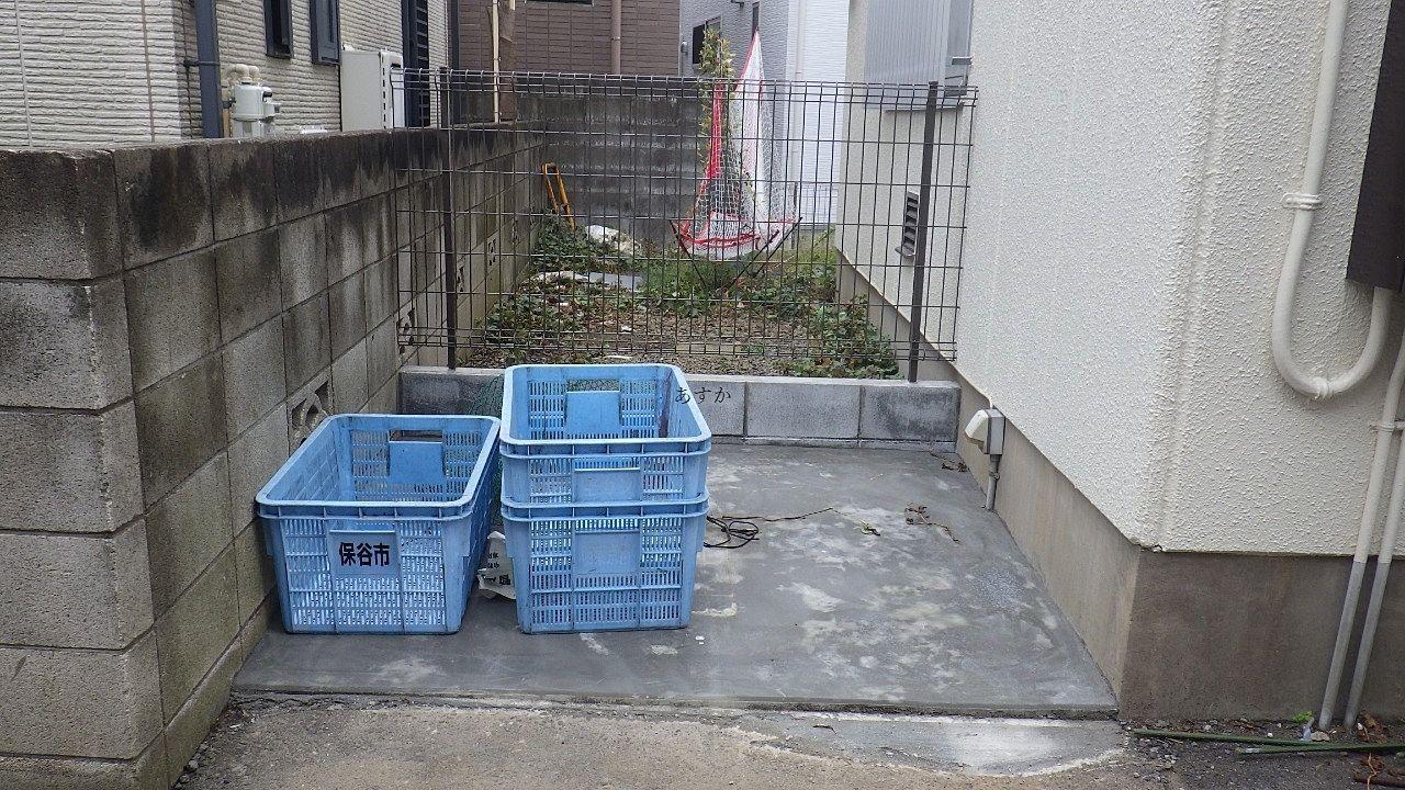 戸別収集になったばかり西東京市のゴミ置き場に