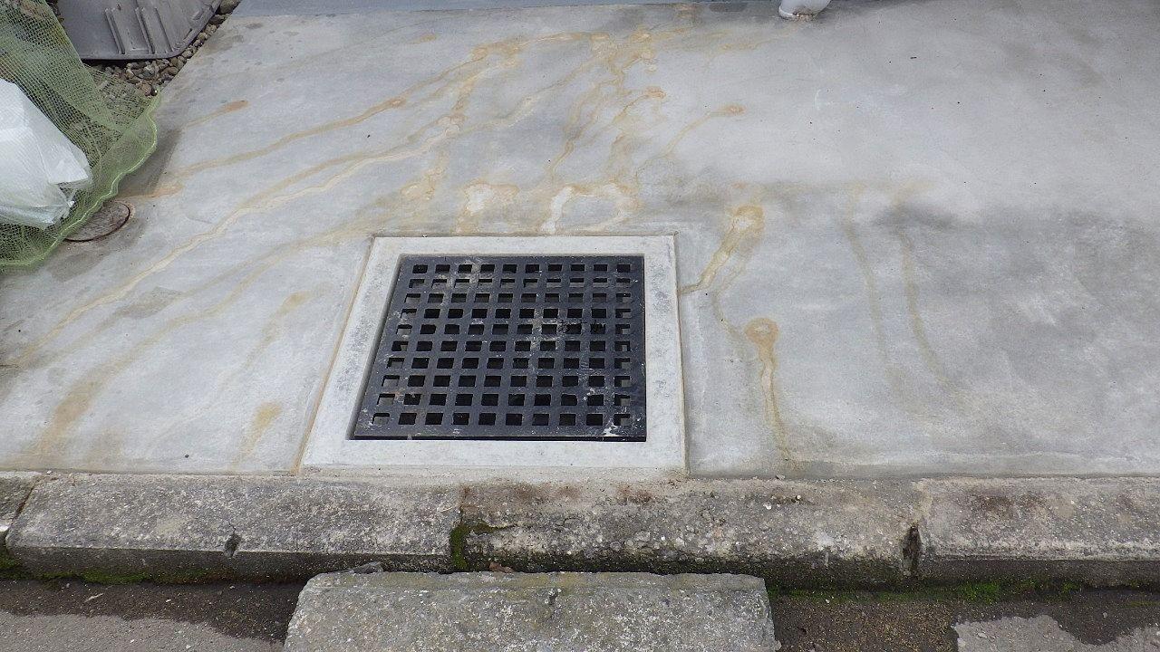 入口付近なので水はけも良くなります。