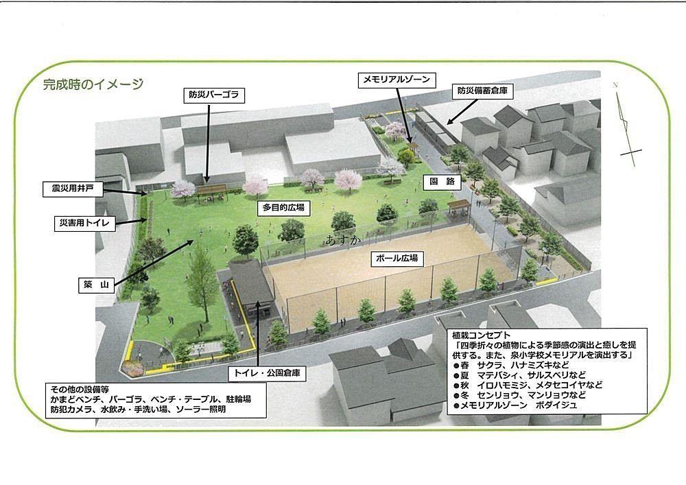 公園の完成予想図