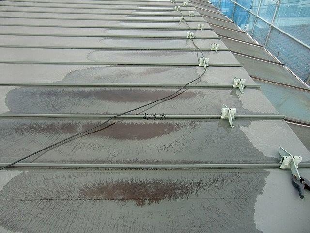 屋根で覆われ一見きれいな屋上の様子