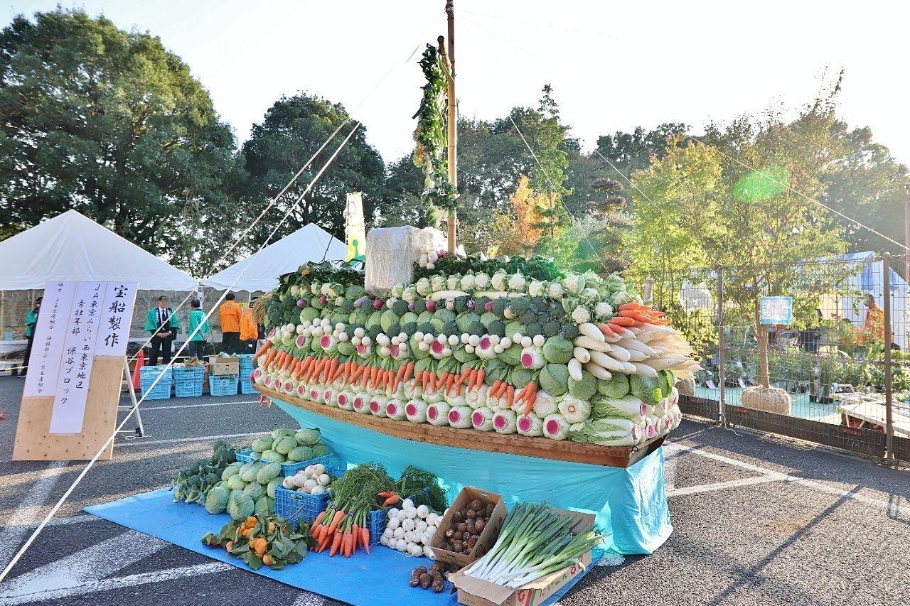 農業コーナーの展示