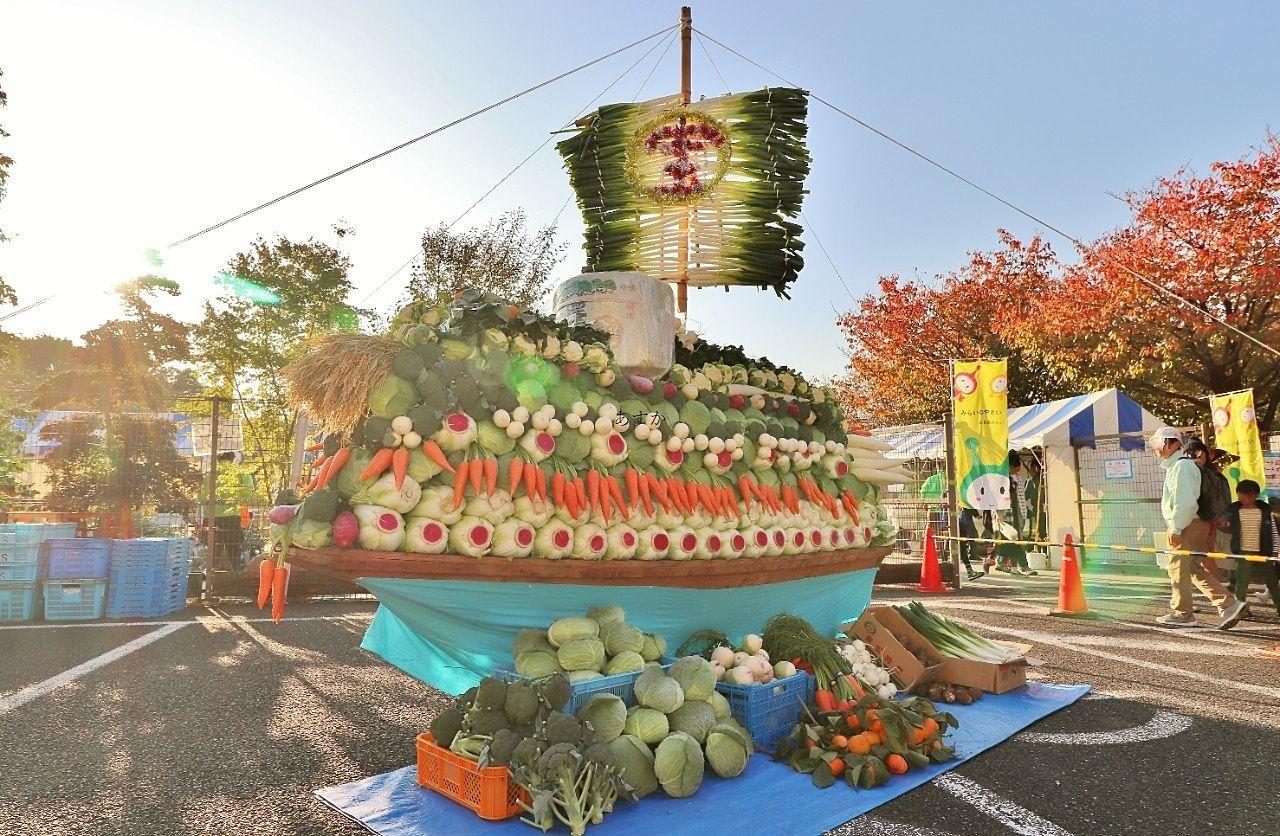 東京みらい農協による市内産の野菜で作られたたからぶね