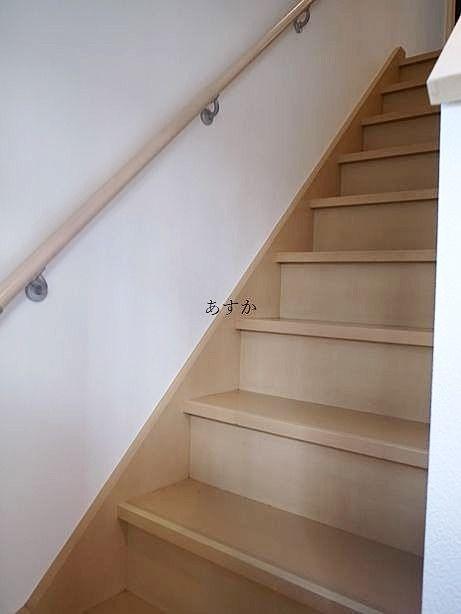 手すりのある階段部