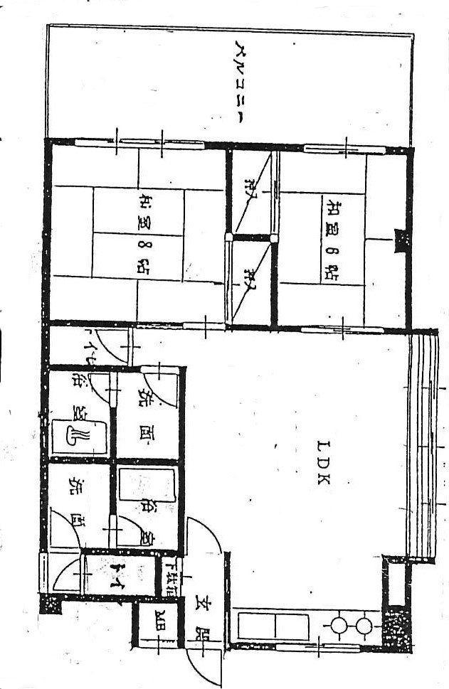 建築当初の間取図