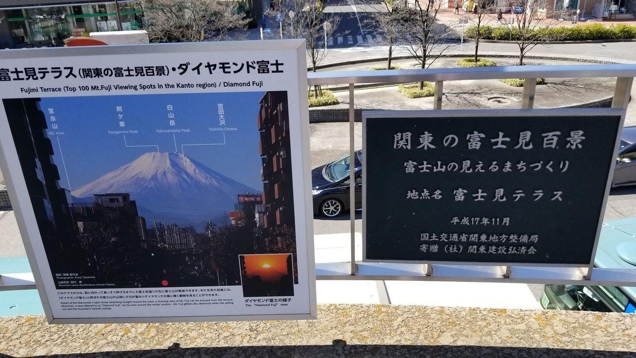 関東の冨士見百景の看板