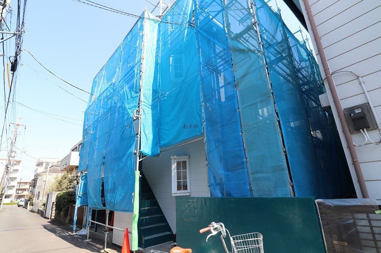 完成間近の塗装工事