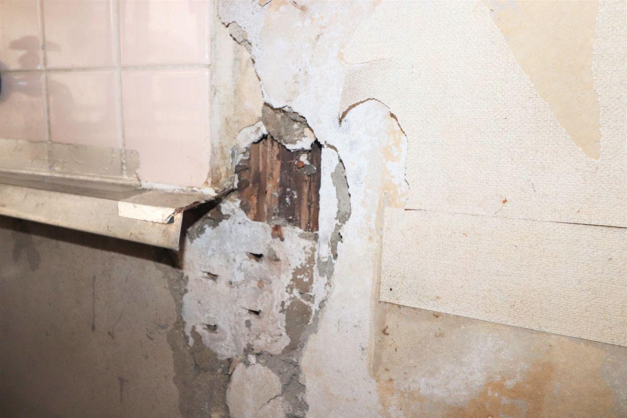 キッチンセットの裏の傷み