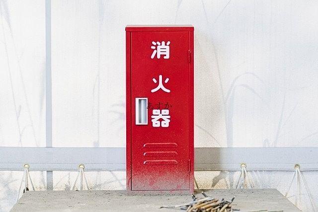 室外に設置される消火器