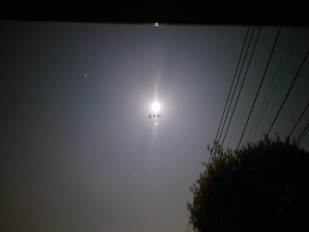 10月1日 空に輝く中秋の名月