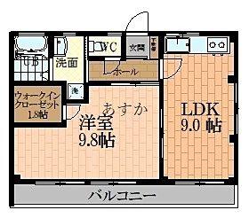 広い居室のある1LDKに変更