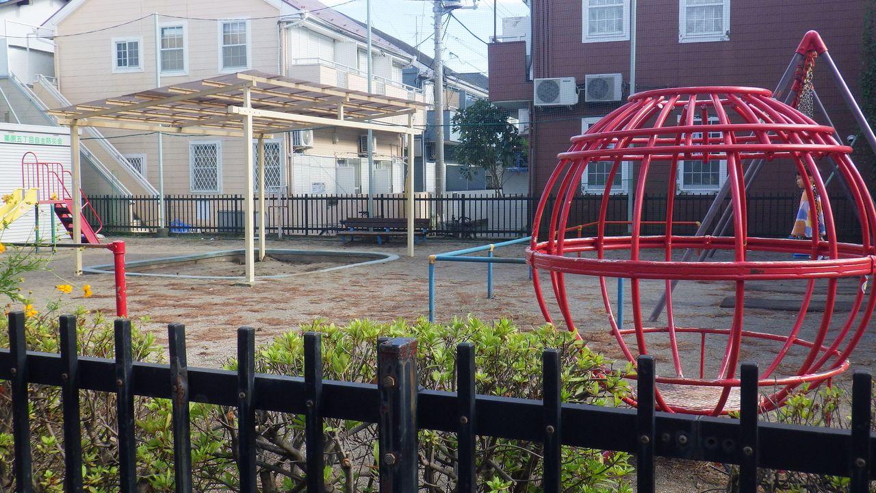 ひばりが丘駅から7分。住宅街の中の定番の公園【一本松児童遊園】