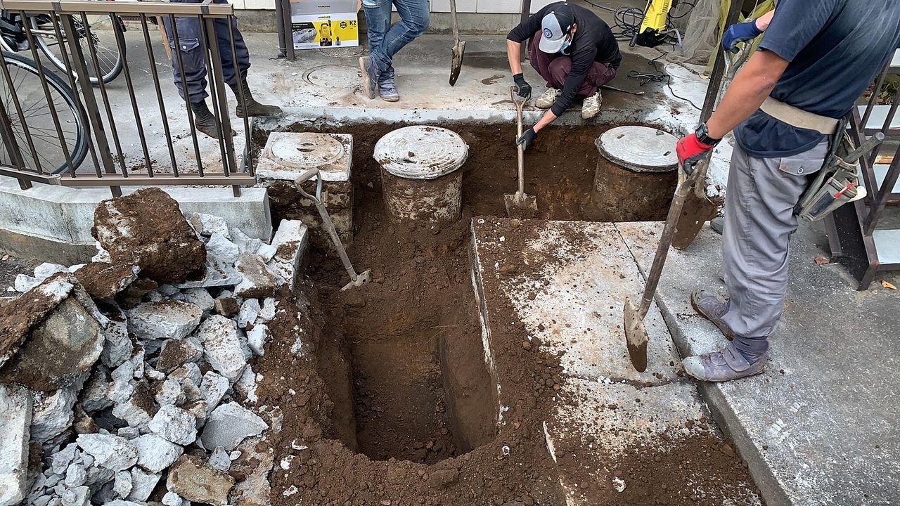 下水管への接続工事
