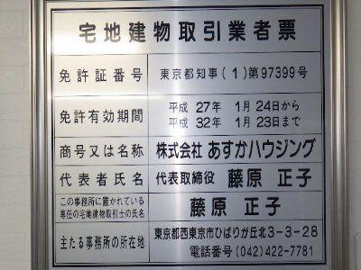 会社に掲示する免許番号