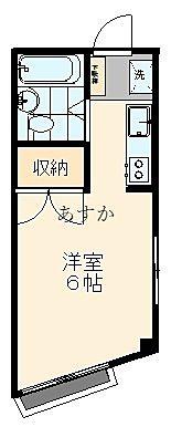 3階の角部屋ワンルーム