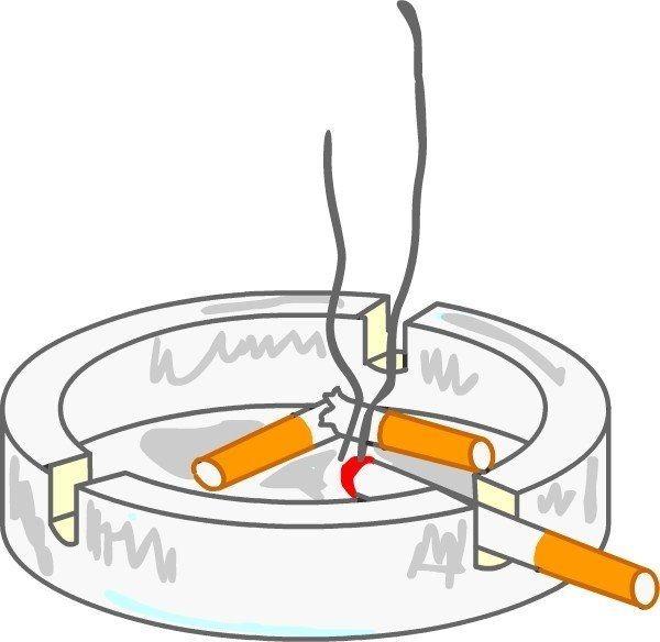 タバコの煙から